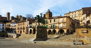 Plaza Mayor. Trujillo, Caceres Stock Image