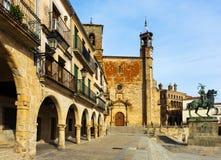 Plaza Mayor at Trujillo Royalty Free Stock Images