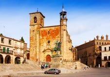 Plaza Mayor. Trujillo, Spain Royalty Free Stock Images