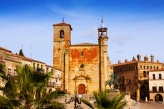 Plaza Mayor at Trujillo. Spain Royalty Free Stock Photography