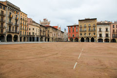 Plaza Mayor in Vic, Catalonia Royalty Free Stock Images