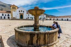 Plaza Mayor Villa de Leyva Boyaca Colombia Stock Photography