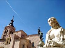 Plaza Medina del Campo, Segovia, Spanien royaltyfri foto
