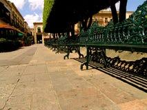 Plaza mexicana del asiento imagenes de archivo