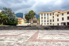 Plaza and Monument Stock Image