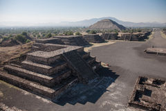 Pyramid of the Sun in Teotihuacan Royalty Free Stock Image