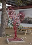 Plaza mural, bispo Arts District, Dallas, Texas Fotos de Stock