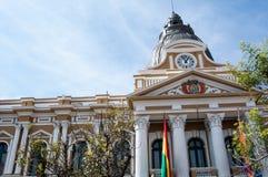 plaza murillo Λα της Βολιβίας paz Στοκ Εικόνα