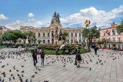 plaza murillo Λα της Βολιβίας paz Στοκ φωτογραφία με δικαίωμα ελεύθερης χρήσης