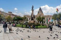 plaza murillo Λα της Βολιβίας paz Στοκ Φωτογραφία