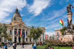 plaza murillo Λα της Βολιβίας paz Στοκ Εικόνες