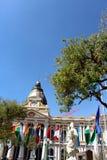 Plaza Murillo με το προεδρικό παλάτι & καθεδρικός ναός στο Λα Παζ Στοκ εικόνες με δικαίωμα ελεύθερης χρήσης