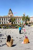 Plaza Murillo με το προεδρικό παλάτι & καθεδρικός ναός στο Λα Παζ Στοκ φωτογραφίες με δικαίωμα ελεύθερης χρήσης