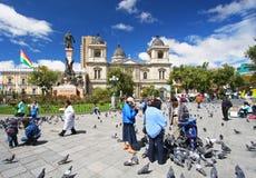 Plaza Murillo στο Λα Παζ, Βολιβία Στοκ Εικόνα