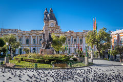 Plaza Murillo and Bolivian Palace of Government - La Paz, Bolivia. Plaza Murillo and Bolivian Palace of Government in La Paz, Bolivia Royalty Free Stock Photo