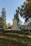 Plaza Murillo framme av museet av Pradoen i stad av Madrid, Spanien arkivfoton