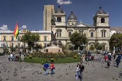 Plaza Murillo - La Paz - Bolivia Royalty Free Stock Images