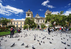 Plaza Murillo in La Paz, Bolivia Stock Image