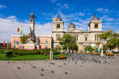 Plaza Murillo, LaPaz Stock Photos