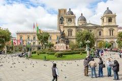 Plaza Murillo, La Paz, Bolivia Royalty Free Stock Image