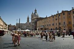Plaza Navona Imagenes de archivo