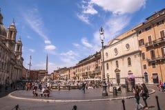 Plaza Navona Fotografía de archivo libre de regalías