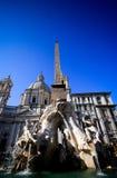 Plaza Navona (cuadrado) de Navona - Roma Fotos de archivo libres de regalías