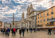 Plaza Navona en Roma imágenes de archivo libres de regalías