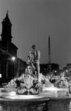 Plaza Navona en Roma Imagenes de archivo