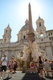 Plaza Navona en Roma Fotos de archivo libres de regalías