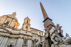 Plaza Navona en Roma Fotos de archivo