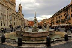 Plaza Navona en Roma, Italia Fotos de archivo libres de regalías