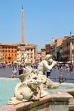 Plaza Navona en Roma en un día de verano hermoso Imagen de archivo