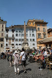 Plaza Navona. Market is a popular spot for local and tourists in Roma royalty free stock photography