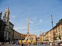 Plaza Navona Roma Foto de archivo libre de regalías