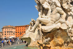 Plaza Navona, Roma Imágenes de archivo libres de regalías