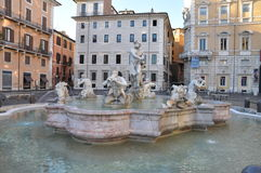 Plaza Navona, Roma de la fuente Fotos de archivo