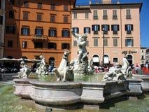 Plaza Navona Roma Italia Imagen de archivo libre de regalías