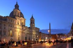 Plaza Navona, Roma, Italia fotos de archivo libres de regalías