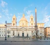Plaza Navona, Roma, Italia Imagen de archivo libre de regalías