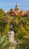 Plaza Nueva Ferdinand Statue Church El Salvador Seville España fotografía de archivo