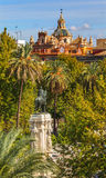 Plaza Nueva Ferdinand Statue Church El Salvador Seville Spanien arkivbild