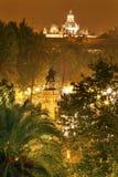 Plaza Nueva Ferdinand Statue Seville Spain immagini stock