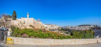 Plaza occidental de la pared, la Explanada de las Mezquitas, Jerusalén Imagen de archivo libre de regalías