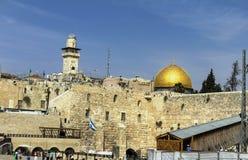 Plaza occidental de la pared, la Explanada de las Mezquitas, Jerusalén Fotos de archivo libres de regalías