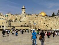 Plaza occidental de la pared, la Explanada de las Mezquitas, Jerusalén Imagen de archivo