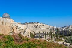 Plaza occidentale de mur, l'Esplanade des mosquées, Jérusalem Image stock