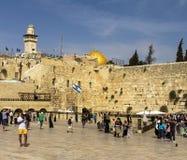 Plaza occidentale della parete, il Temple Mount, Gerusalemme Fotografie Stock Libere da Diritti