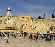 Plaza ocidental da parede, o Temple Mount, Jerusalém Fotos de Stock Royalty Free