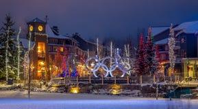 Plaza olímpica del pueblo de la marmota foto de archivo libre de regalías